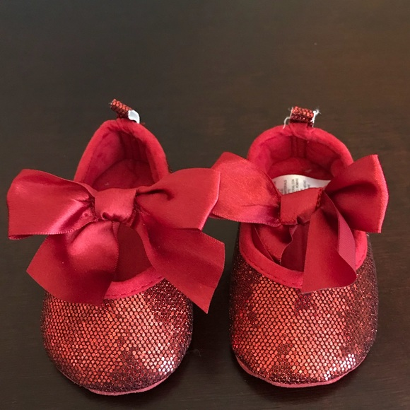 attractive price official shop wholesale Red sparkly baby girl shoes